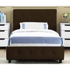 Leather Upholstered Bed Dorel Home Furnishings Dakota Brown Twin Faux Leather Upholstered