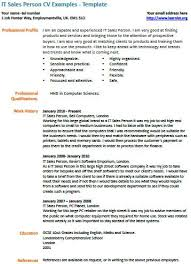 it sales person cv example learnist org