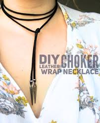 leather choker chain necklace images Diy leather choker wrap necklace life on waller jpg