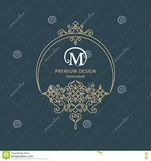 luxury logo template flourishes calligraphic elegant ornament