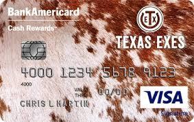 Bank Of America Design Cards Credit Card Texas Exes