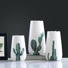 decorative crafts for home modern vases decor modern ceramic concise fashion white flowers vase
