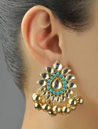 latkan earrings buy turquoise zircon latkan earrings online at jaypore