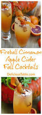 easy thanksgiving drinks fireball cinnamon apple cider fall cocktails