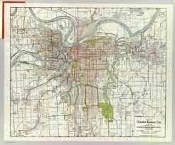 kansas city metro map kansas city gallup map supply company 1920