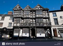 the feathers hotel medieval tudor building in ludlow shropshire