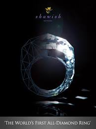 all diamond ring the world s all diamond ring is made entirely out of a diamond