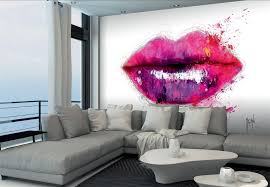 wall murals collection to buy online home flair decor 1wall lips non woven xl wall mural by patrice murciano