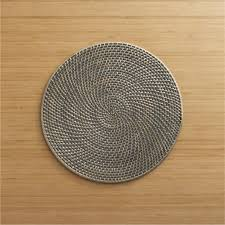 grey woven rattan placemat crate and barrel