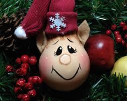 painted light bulb reindeer chrismas ornament handmade