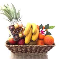 fruit baskets for delivery fruit basket with chocolate ferrero collection fruit hers