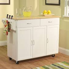 charming real simple rolling kitchen island in white also portable