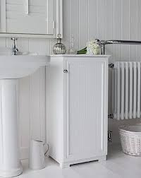 freestanding bathroom cabinet whiteside view of the white