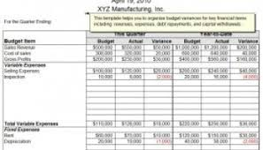 quarterly budget template excel budget template free