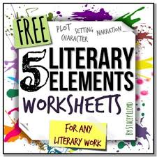 5 literary elements worksheets by stacey lloyd tpt