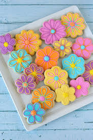 decorated cookies summer flower decorated cookies glorious treats