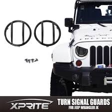 jeep wrangler black lights black light guard for front turn signals steel cover 07 17 jeep