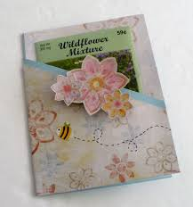 wildflower seed packets make a wildflower seed packet card dollar store crafts