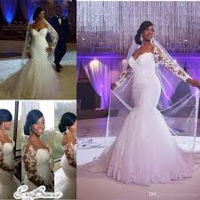 Long Sleeve Lace Wedding Dress Open Back Fabulous And Fitted Plus Size Wedding Dresses With Lace Tulle