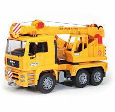 bruder fire truck amazon com bruder man crane truck toys u0026 games
