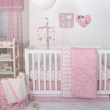 Zig Zag Crib Bedding Set The Peanut Shell 4 Baby Crib Bedding Set Pink Zig Zag