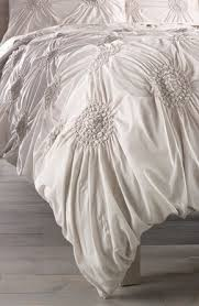 light grey ruched duvet cover on the hunt
