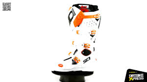 sidi motocross boots sidi crossfire2 srs motocross boots white orange youtube