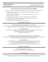 Sample Resume For Banking Operations by Example District Bank Manager Resume Free Sample Example Bank