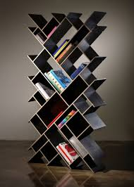 inspiring wooden book shelves design with artistic shape ideas for
