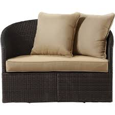 Curved Wicker Patio Furniture - better homes and gardens cascade falls curved loveseat brown