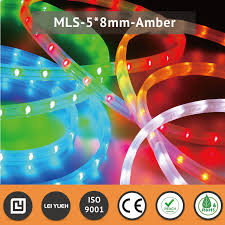 Amber Led Strip Lights by Outdoor Decorative Flexible 12v 24v 5 X 8mm Ip67 Amber Led Strip