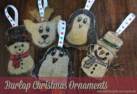 how to make burlap christmas ornaments