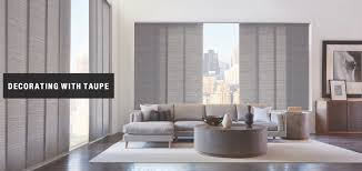 decorating with taupe u2013 design ideas by at home blinds u0026 decor
