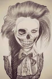 half skull by naawaal on deviantart
