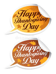 happy thanksgiving day stickers stock vector image 16626949
