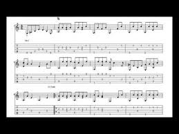 the box tops the letter with tablature sheet music for solo
