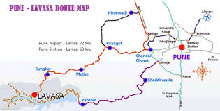 South India Map by Pune To Lavasa Route Map Indias Newest Hill Station Portofino