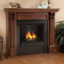 real flame ashley 48 in gel fuel fireplace in mahogany 7100 m