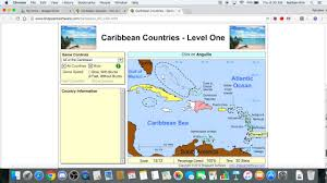 Caribbean Countries Map by Sheppard Software Caribbean 100 50 Sec Youtube
