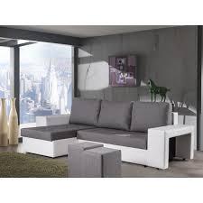canapé avec pouf canapé d angle convertible avec poufs gris blanc naples achat