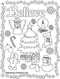 christmas poster coloring printable