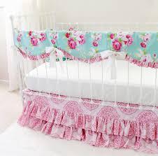 Pink And Aqua Crib Bedding Crib Bedding Roses Baby Crib Design Inspiration