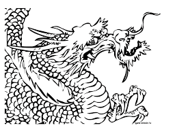 coloring chinese dragon