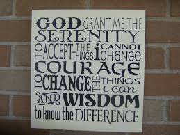 serenity prayer sign wood sign inspirational