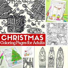 free printable christmas coloring pages adults easy peasy