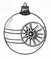 xmas tree ornament clipart black and white clipartfest