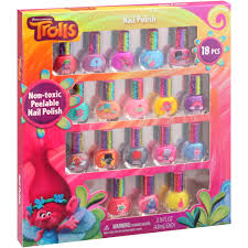 dreamworks trolls nail polish kit 0 16 fl oz 18 pc walmart com