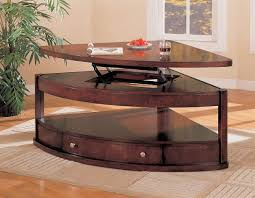 triangle shaped coffee table shaped lift top coffee table coffee tables