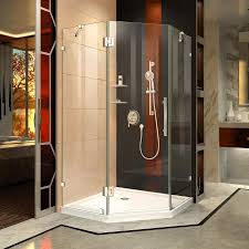 38 Shower Door Shop Dreamline Prism 38 In To 38 In W Frameless Chrome Hinged