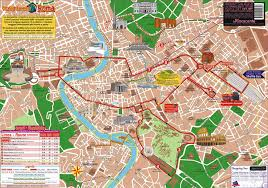 touristic map of map of rome tourist attractions sightseeing tourist tour